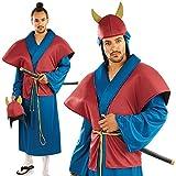Fun Shack Hommes Samurai Guerrier 4 pièce Costume Robe Chapeau Armure et Ceinture Taille Grand 52-54
