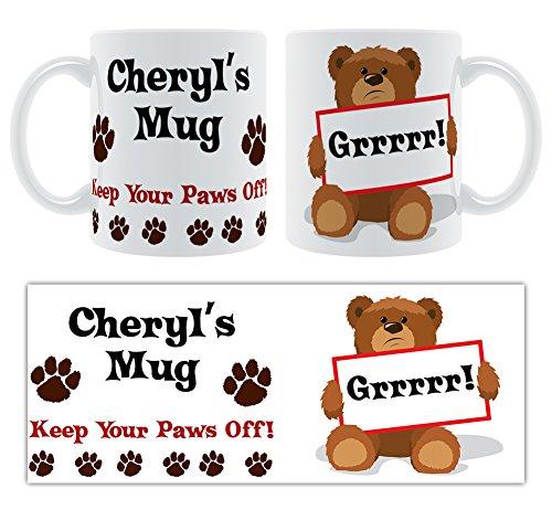 Cheryl 's Tasse, Keep your Paws Off.-Persönlicher Name geschoben Keramik Tasse Geschenk -