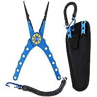 Lixada 20cm Außen multifunktionale Angeln Zangen Linie Cutter Hook Remover Tackle (Blau) (Blau)