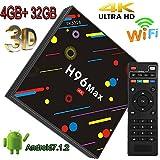 TV Box, 4GB + 32GB super-vip 2018Memorial Version H96Max Smart 4K TV BOX Android 7.1.2RK3328Quad Core CPU WIFI SET Top Boxes Support 3d 4K Ultra HD TV k17.4