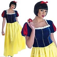 Blancanieves largo vestido de Relaciones Adultas - Disfraz - XXL - 52-54