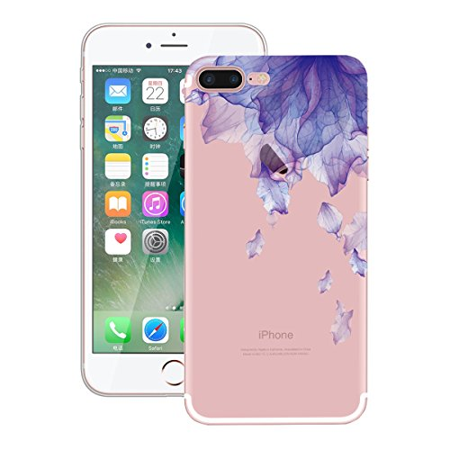 Yokata Coque iPhone 7 (4.7 inch) Housse Étui Doux Ultra Mince Etui Apple iPhone 7 Silicone Souple TPU Gel Bumper en Clair Transparent Soft Case Flexible Back Cover Anti Rayures Housse de Protection -  Pourpre
