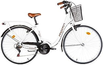 Moma - Bicicleta Paseo Citybike SHIMANO. Aluminio, 18 velocidades, ruedas de 28
