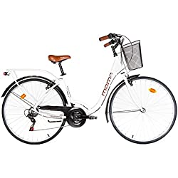 """Moma - Bicicleta Paseo Citybike SHIMANO. Aluminio, 18 velocidades, ruedas de 28"""""""