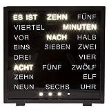 Tischuhr mit deutscher Wort-Anzeige in LED Wörteruhr