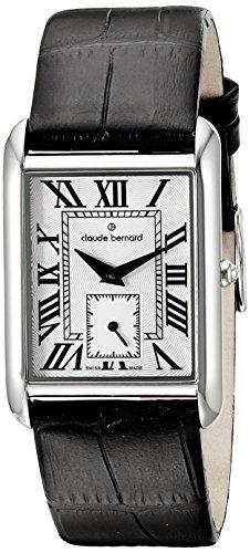 Claude Bernard Women's Watch Analogue Quartz Leather Black 23097-3-BR