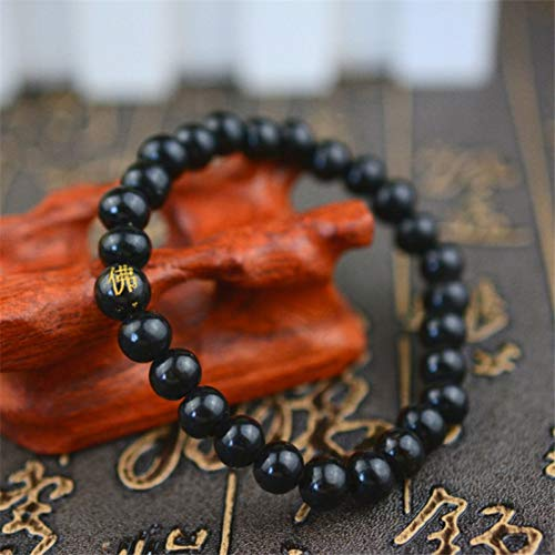 WODESHENGRI Armbänder,Buddha Armband Rosenkranz Holz Für Frauen Männer Armbänder Schmuck