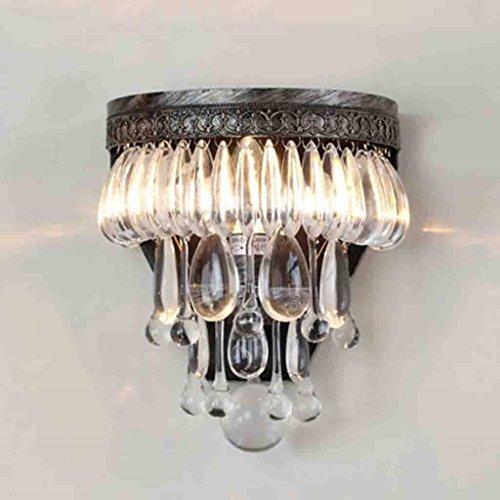 Gorkuor Wandleuchte Luxus Kristall Wandleuchte Retro Hotel Wohnzimmer Esszimmer Korridor Beleuchtung Originalität by -