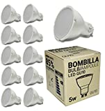 BarcelonaLED Pack 10x GU10 Bombilla Dicroica LED 5W 50mm Lámparas...