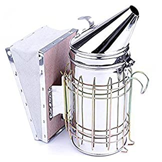 AUVSTA Bee Hive Smoker, Beekeeping Equipment, Heavy Duty Stainless Steel Large Size, Superior Airflow Bellow and Excellent Smoke Output for Beekeeping 512ZCbpn8EL