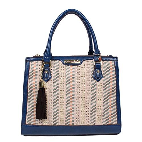 nicole-lee-blue-prabal-woven-tote-bag