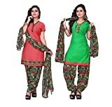 Fashion Storey Women's Crepe Unstiched D...