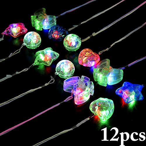 Joyibay Kinder LED Halskette Dekorative Leuchten Halskette für Party (Zufällige Farbe)