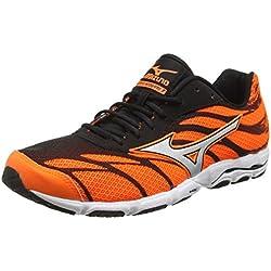 Mizuno Wave Hitogami 3, Zapatillas de Running para Hombre, Naranja (Clownfish/Silver/Black), 40.5 EU (7 UK)