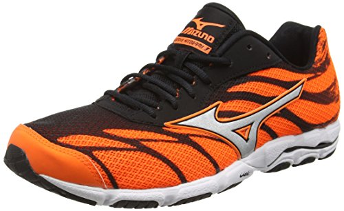 Mizuno Herren Wave Hitogami 3 Laufschuhe Orange (Clownfish/Silver/Black)