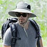 Cappello da sole all'aperto - Protezione solare 50UV Cappello di nylon largo del bordo - Cappello di estate impermeabile per la pesca a rapida essicazione per la pesca Escursioni in barca a vela - Dragon Flame (grigio chiaro)