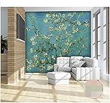 3D Wallpaper Foto Wallpaper Murale Personalizzato Soggiorno Van Gogh Albicocca Fiori Pittura A Olio Tv Sfondo Per Pareti 3D 140X100cm