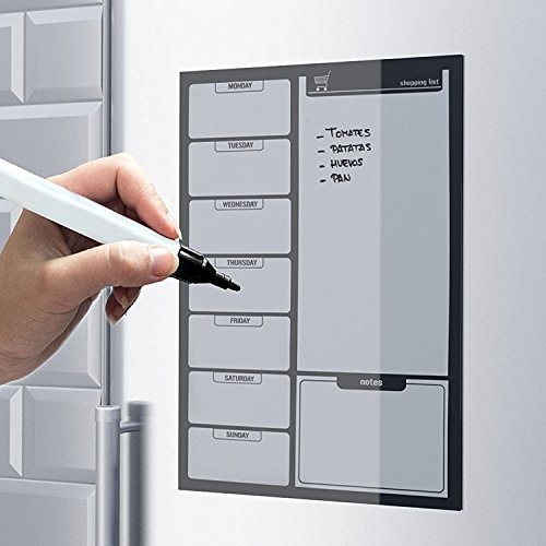 top-home-solutions-liste-de-courses-noir-aimante-pour-refrigerateur-avec-marqueur-effacable-a-sec-ta