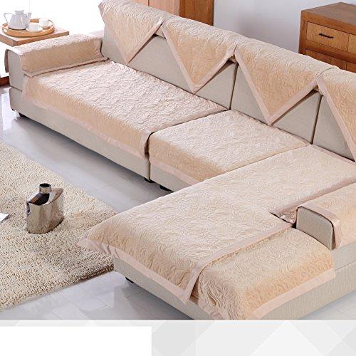breve peluche divano cuscini/ cuscino/Autunno/inverno stagioni telo copridivano/Semplice moderna imbottita antiscivolo divano asciugamano-H 70x240cm(28x94inch)