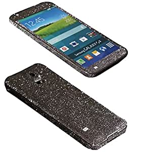 STICK_ME Glitter Full Mobile Skin Decal for Samsung Galaxy S5 - Black
