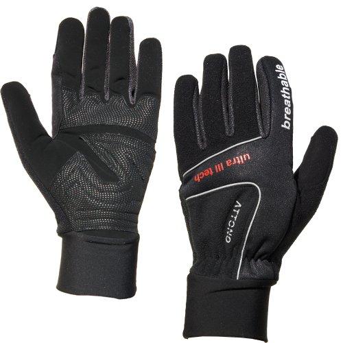 Langlaufhandschuhe ATTONO® Winter Fahrradhandschuhe Langlauf Fahrrad Handschuhe schwarz Gr. 6 - 11