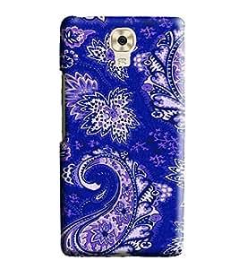 Hi-me Designer Phone Back Case Cover GioneeM6 ( Desi Vibrant Blue Artistic Pattern )