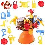 deAO Il Toro Pazzo Crazy Bull Gioco Impilabile, Equilibrio e Abilità per Bambini Gioco di società per la Famiglia