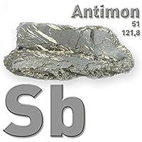 Antimonio, 100 g, metal, puro Sb 99,65%, CAS 7440-36-0