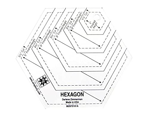 Hexagon Shape Acrylic Quilting Template