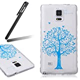 Coque Housse pour Galaxy Note 4, Galaxy Note 4 Coque Silicone Etui Housse,...