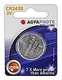 Agfaphoto - juego de pilas de botón de litio con forma de balón de Batería de ion de litio Cr, 2430 juego de con diseño de 1