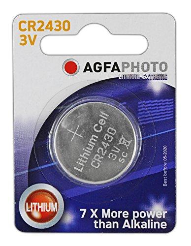 Agfaphoto - juego de pilas de botón de litio con forma de balón de Batería de ion de litio Cr, 2430 juego de con...