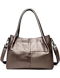 Bolsas para Mujer bolsos de cuero Bolsos de diseñador cosido hembra grande Bolso Mujer Bolsos Top