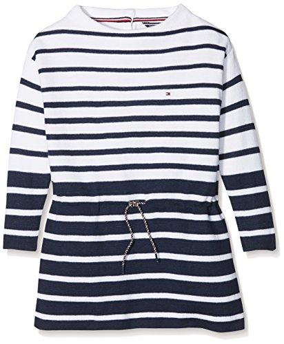 Tommy Hilfiger Stripe Sweater Dress L s, Vestido para Niñas, Azul (Black 3fa475317f07