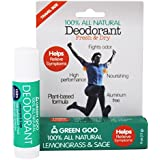 Sierra Sage Green Goo 100% All Natural Deodorant Travel Stick-Lemongrass & Sage