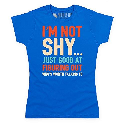 I'm Not Shy T-Shirt, Damen Royalblau