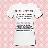 T-shirt donna Faq della Psicologa: frasi tipiche divertenti! Idea regalo per una laurea in Psicologia!