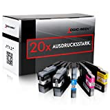 Logic-Seek 20 Druckerpatronen kompatibel für Brother LC-1280 XL MFC-J5910DW MFC-J6510DW MFC-J6710DW MFC-J6910DW