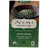 NUMI - NUMI - Mate Lemon - Yerba Maté, australische Zitronenmyrte und grüner Tee - Fair Trade - Kompostierbare Teebeutel - Non GMO - 18 Filter