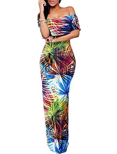 Cfanny - Robe - Cocktail - Femme Bleu tropical
