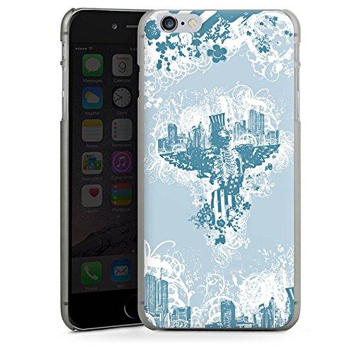 Apple iPhone X Silikon Hülle Case Schutzhülle Stadt Freiheit Ornamente Hard Case anthrazit-klar