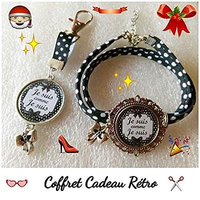 Idée cadeau femme, bracelet et bijou de sac