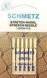 Schmetz 5 aghi stretch per macchine da cucire (a pistone piatto), per tessuti elasticizzati, 130/705 H-S, spessore 75/11 / 90/14