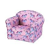 Kids Unicorn Armchair Children's Tub Chair Girl Boy Seating Chair Cartoon Sofa Pink Purple Pony for Bedroom Playroom