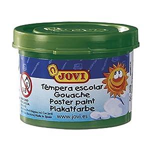Jovi - Estuche témpera, 5 Botes 35 ml, Color Verde Oscuro (50319)