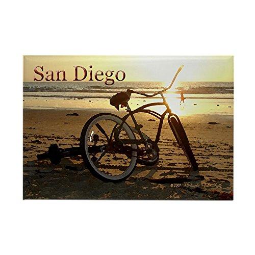 CafePress - San Diego Artsie Bike - rechteckiger Magnet, 5,1 x 7,6 cm Kühlschrankmagnet
