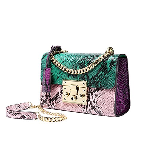 Dissa Q0885 Damen Leder Handtaschen Satchel Tote Taschen Schultertaschen Grün