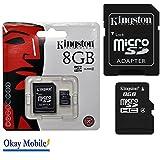 Original Kingston MicroSD Tarjeta De Memoria 8GB para Huawei Ascend G7–8GB