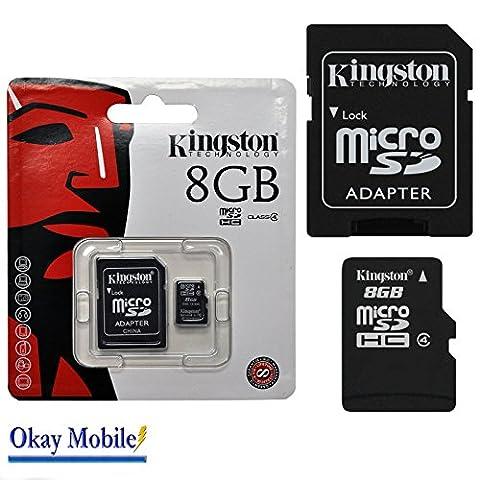 Original Kingston MicroSD Speicherkarte 8GB for Samsung Galaxy S3 mini VE i8200