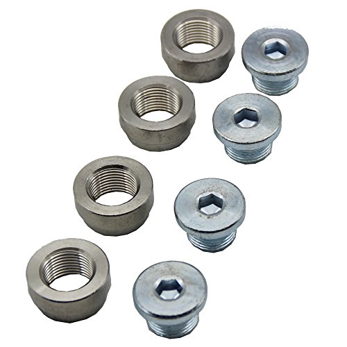 o2-oxygen-sensor-bung-and-plugs-4-bungs-4-plugs-oxygen-sensor-stepped-weld-bung-m18x15